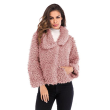 купить 2018 Winter New Women Faux fur Coat Long Sleeve Lapel Hair short Jacket Coat Casual Female Clothes Cotton-Padded Jacket fashion дешево
