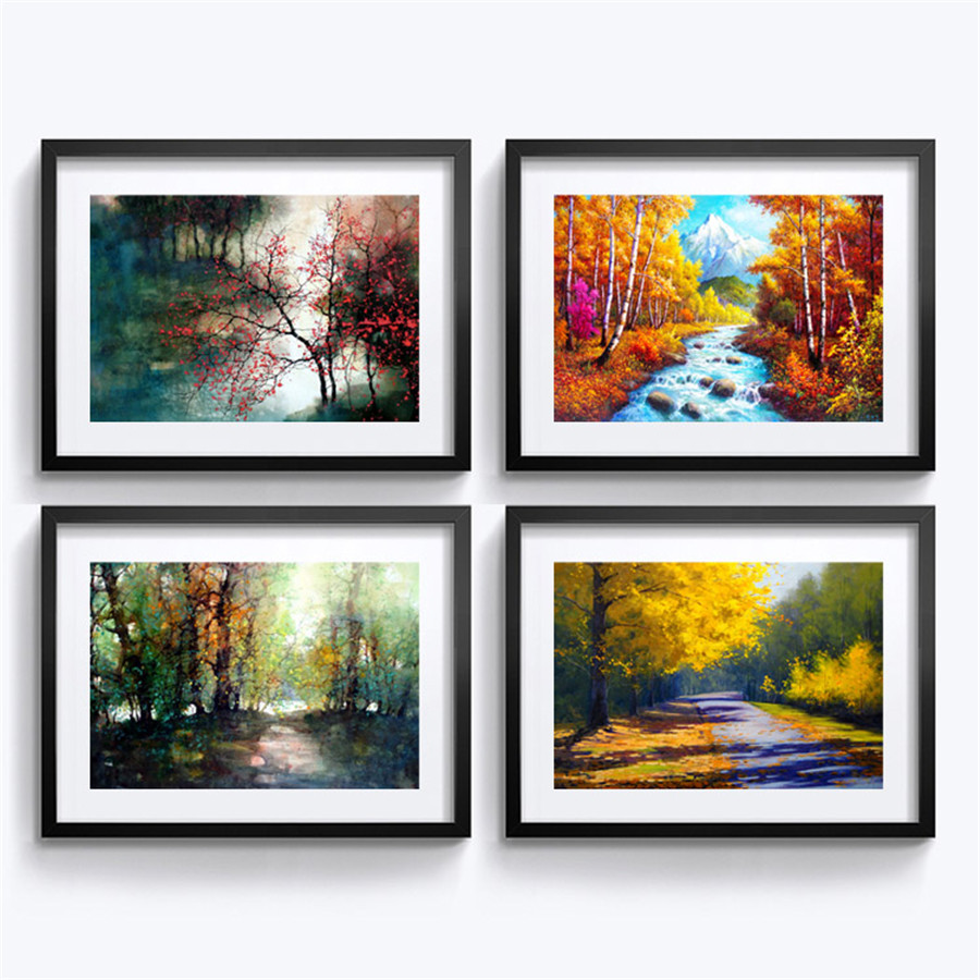 framed painting european landscape pictures wall decoration mural modern home decoration painting living room art wall