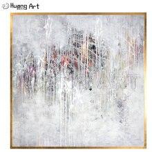 Низкая цена ручная роспись Белый Абстрактный пейзаж картина