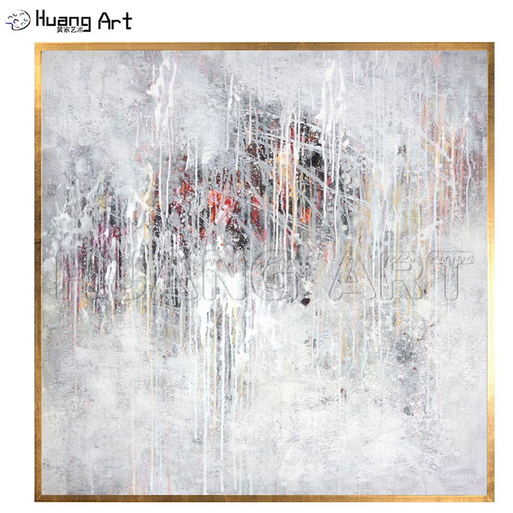 Low Price Hand painted White Abstract Landscape Oil