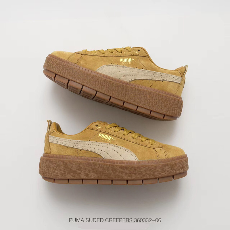 Puma Women's Cleated Creeper Suede Ankle-High Fashion Sneaker In Brown Low-top Skateboarding Shoe Eur Size 35.5-40