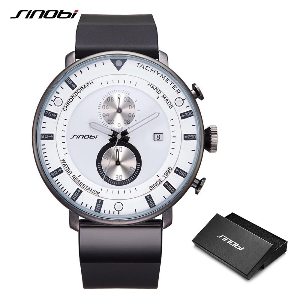 Sinobi nieuwe mode mannen sport horloges heren quartz klok heren - Herenhorloges