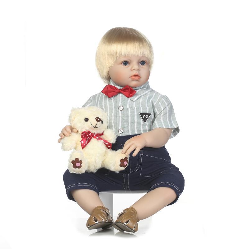 2017 nova bebe reborn npkcollection lifelike reborn criança boneca macio silicone vinil toque suave real 28 polegadas crianças presente