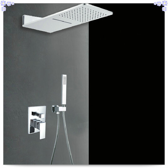 2 way shower set with pre install shower box valve panel Bathroom ...2-way shower set with pre-install shower box valve panel Bathroom concealed wall