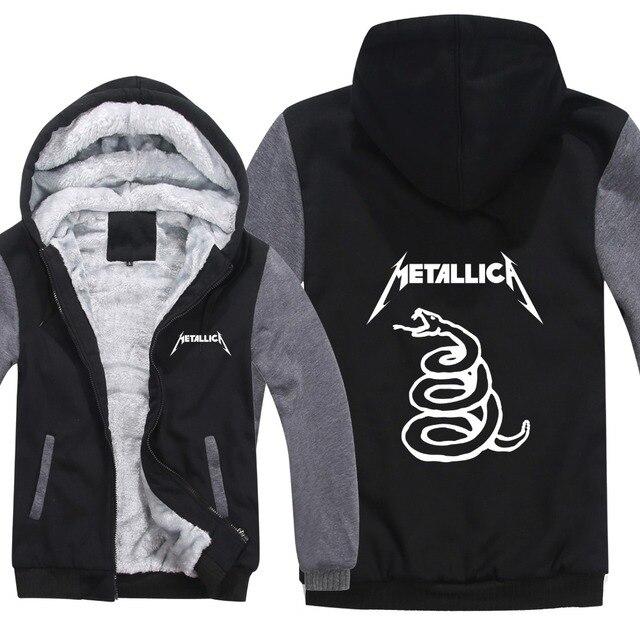 013da64a New Metallica Hoodies Music Jacket Winter Men Casual Thick Fleece Heavy  Metal Rock Band Metallica Sweatshirts Pullover Man Coat