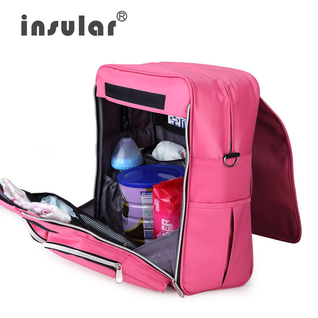 Insular Baby Diaper Backpack Multifunction Baby Stroller Bag for Wheelchairs Prams Baby Carriage Nappy Bag
