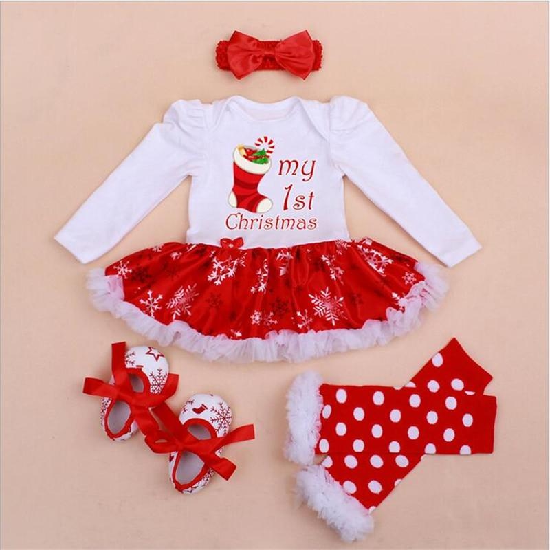 mi primera navidad trajes para beb mameluco del cordn vestido diadema tut recin nacido establece ropa
