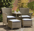 2017 Sigma rattan garden furniture outdoor seats with footstools
