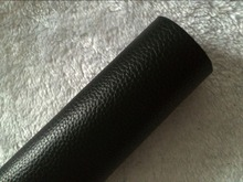 Black Genuine Grain Cowhide Leather for Making Wallet Purse Bag