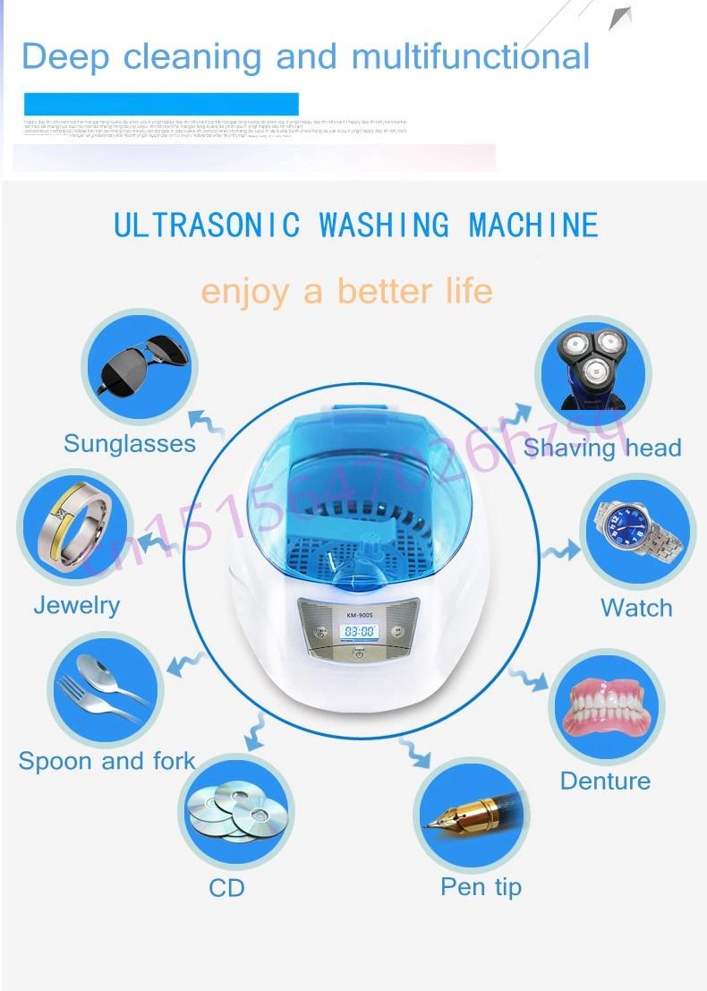 Jiqi 50w 750ml Household Ultrasonic Cleaner Ultrasonic Wave Cleaner Cleaning Machine Microcomputer Control 200-240v Or 100-120v Household Appliances