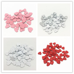 500pcs 12mm Wood Hearts Slices Wedding Crafts Chips Wedding Cardmaking Toppers Scrapbooking 5 Colors