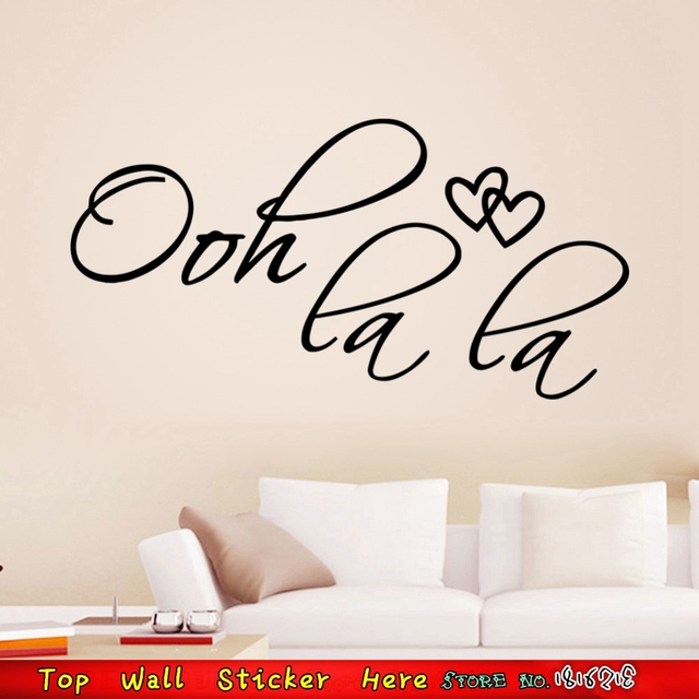 Wall quotes stickers ooh la la non toxic waterproof wall paper craft vinyl stickers for