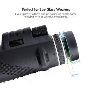 Image 5 - Jumelles monoculaires professionnelles, Zoom 40x60, vision nocturne, avec support pour téléphone, trépied pour téléphone, vision nocturne, turisme de la chasse