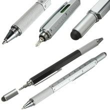 6 в 1 Многофункциональный инструмент отвертка шариковая ручка сенсорный экран емкостный телефон почерк шариковая ручка инструмент ручка