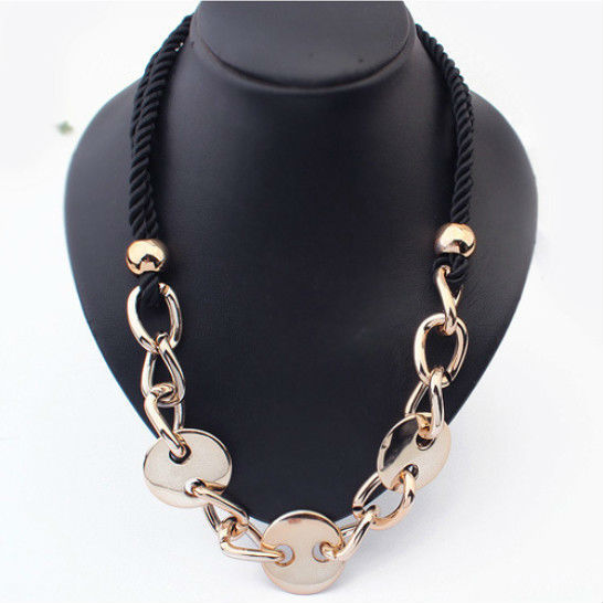 Free Shipping New 2014 Fashion Metallic Maxi Necklace Women Collier Statement Necklaces & Pendants Christmas Gift N492