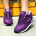 2017 Nova Respirável Mulheres Sapatas Das Senhoras Sapatos de Cunha Altura Crescente Sapatos Elevador Sapatos Casuais Sapatos de Caminhada Mulher