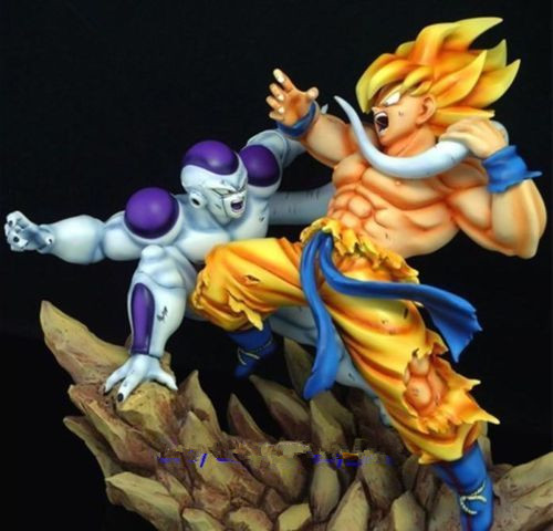Dragon Ball Z Dbz Super Saiyan Goku Vs Frieza Statue Gk Resin Figure In Stock Toys & Hobbies