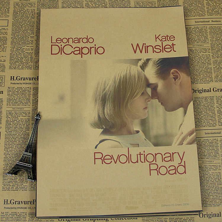 Leonardo DiCaprio movie Vintage brown paper poster drawing great Gatsby revolutionary road Blood Diamond
