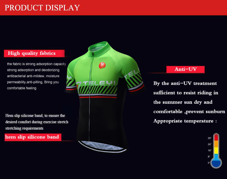 Men Cycling Jersey Short Sleeve