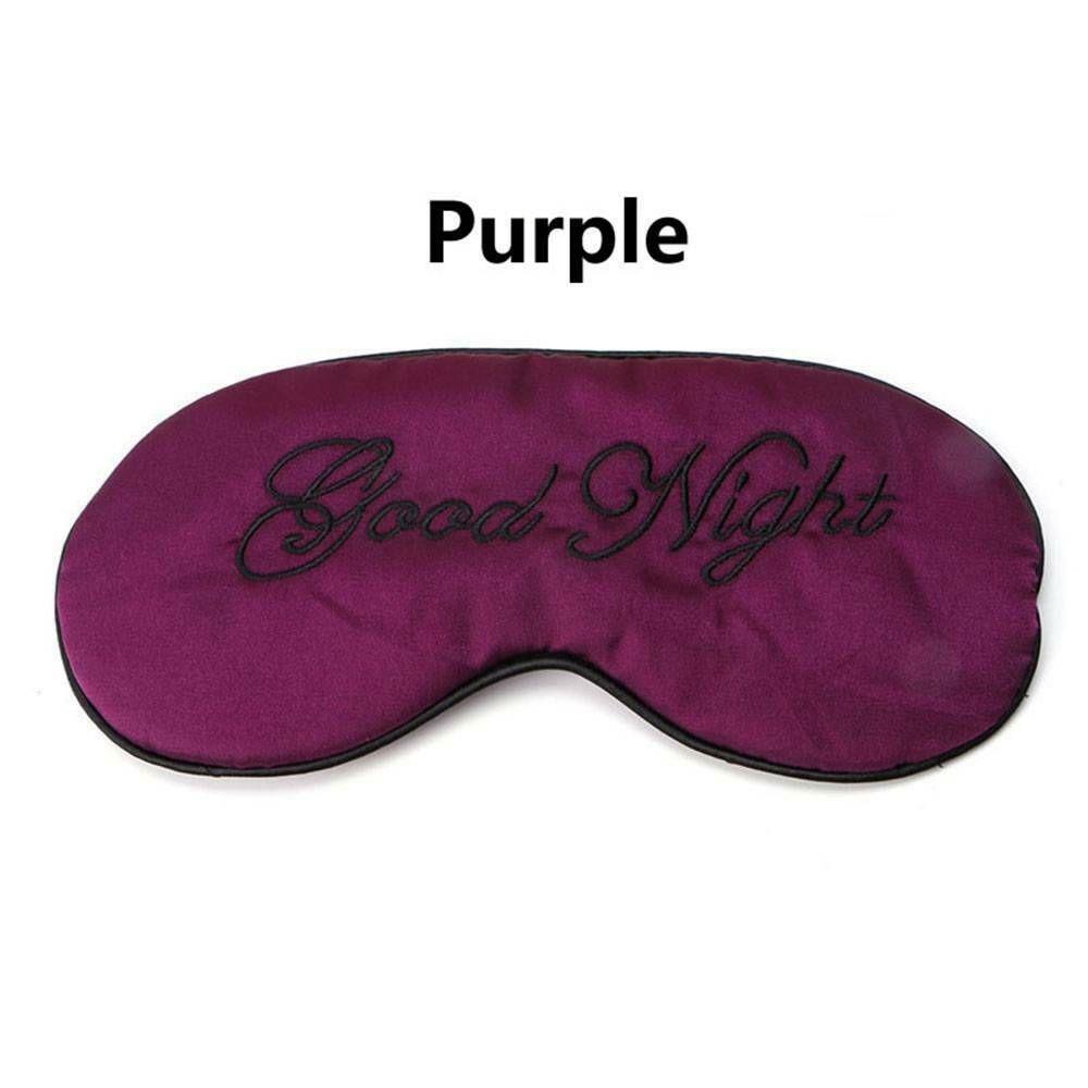 1 шт. мягкая маска для сна Расслабляющая помощь для путешествий с повязкой на глаза мягкая маска для сна тенты инструменты для ухода за глазами - Цвет: Фиолетовый