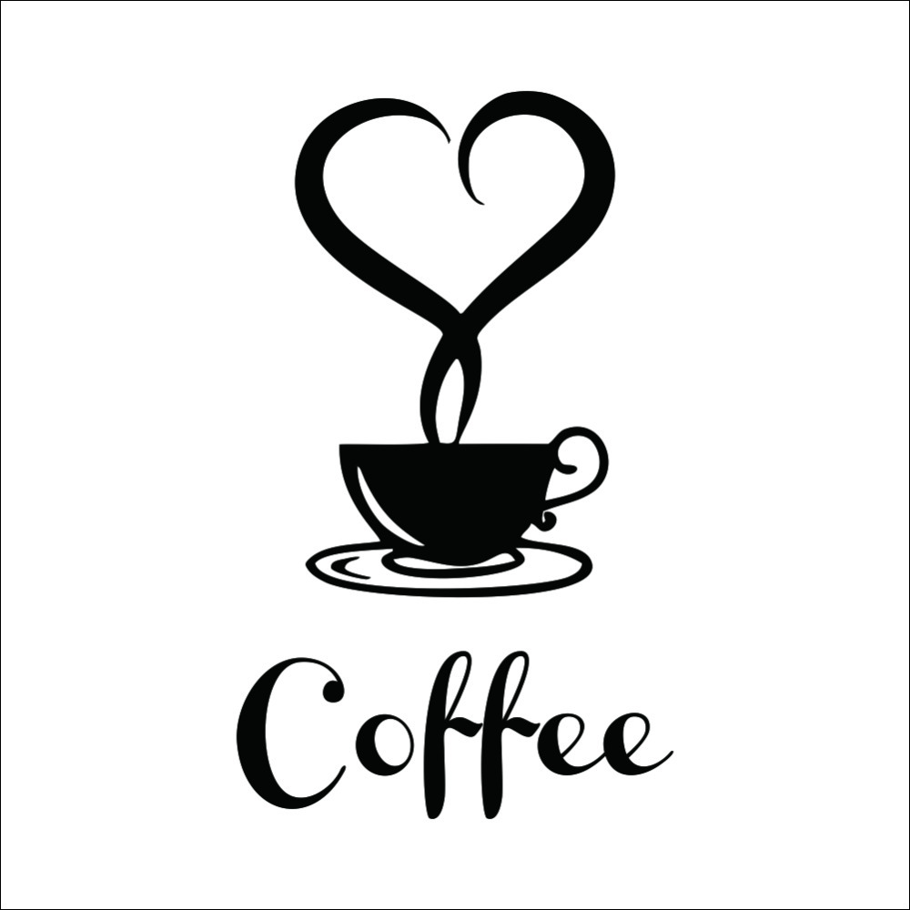 Coffee shop sign modern wall decor decals home decorations 361 kitchen removable vinyl wall art diy decorative sticker stickers