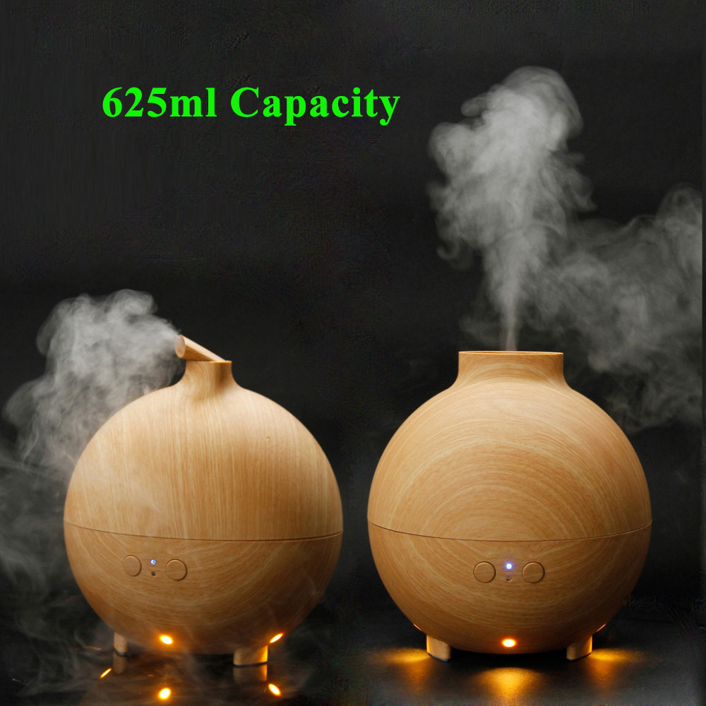 Essential Oil Diffuser Aroma Diffusor Ultrasonic Humidifier Mist Maker Aromatherapy Air Purifier Woodgrain 625ml For home Office aromatherapy essential oil diffuser mini home air humidifier ultrasonic portable aroma atomizer led purifier mist maker