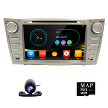 TOYOTA CAMRY için araba stereo 2 din araba dvd oynatıcı gps navigasyon 8 inç dokunmatik ekran araç ses radyo cd dvd oynatıcı bluetooth usb