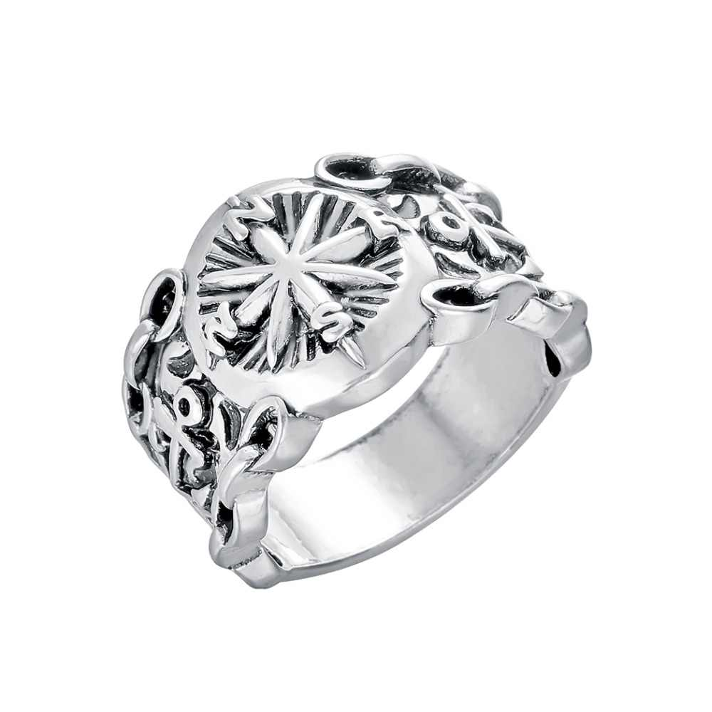 CHENGXUN หลายขนาด 9 แหวนชายหญิง Handmade Slavic ไวกิ้งศาสนา VINTAGE เครื่องประดับชายแหวนวันเกิดของขวัญ