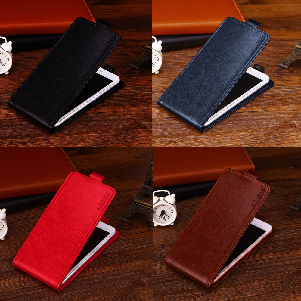 New! Top Quality PU Up And Down Flip Leather Case Fashion Protective Cover Skin For Ginzzu <font><b>ST6040</b></font> Case 4-Colors In Stock image