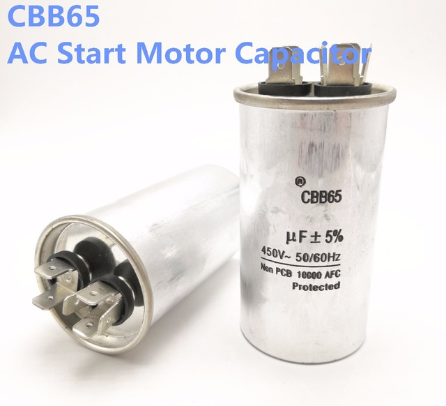US $15 8 |1pcs CBB65 450v 120uf 160uf 45uf 10AC Start Motor Capacitor Air  Conditioner size 50*140mm CBB65-in Capacitors from Electronic Components &