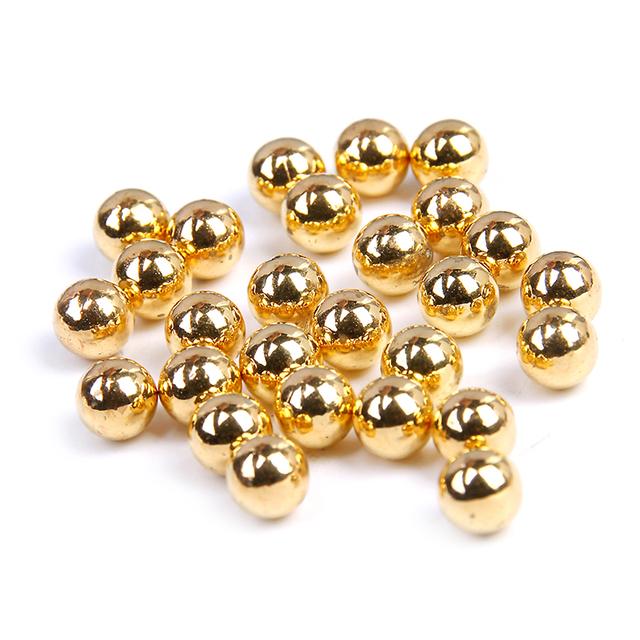 Saco a granel Ouro Metálico 5mm-10mm Glitter Resina Contas Imitação de Pérolas Redondas Nenhum buraco Sapatos Roupas DIY decorações de natal Novo Design