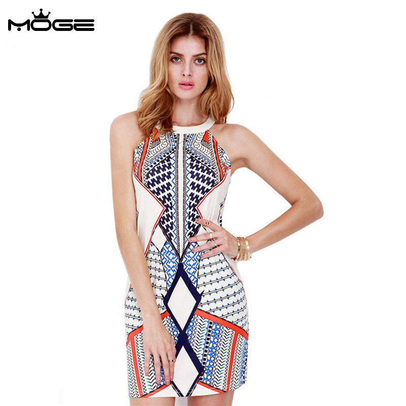 moge women print summer dress sexy culb dress party. Black Bedroom Furniture Sets. Home Design Ideas