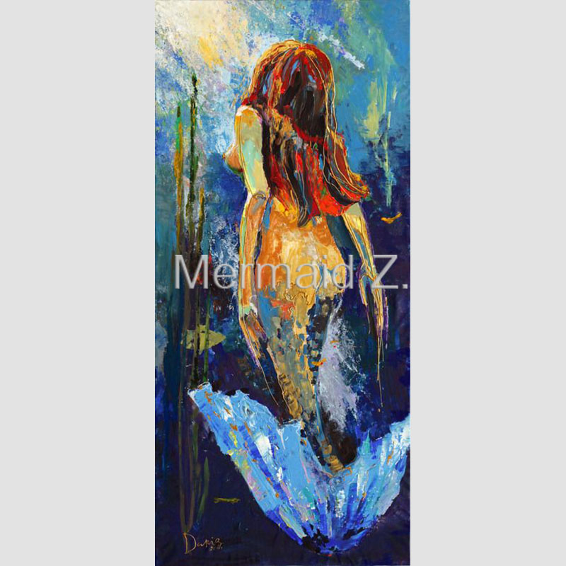 Online get cheap mermaid artists alibaba for How paint on canvas