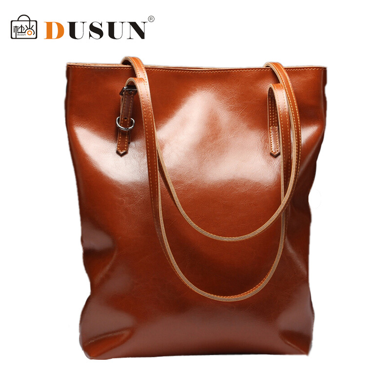 DUSUN Genuine Leather Handbags Women High quality Vintage Shoulder Bag  Women's Large Tote Bags Ladies Casual Leather Bolsos