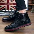 Winter Shoes Men Boots PU Leather Ankle Boots Men Winter Shoes Black Fur Cowboy Boots For Men Shoes Chaussure Homme Erkek Bot