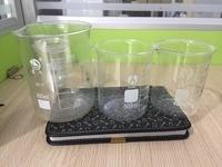 3Pcs/set 400ml 500ml 800ml Glass Transparent Beaker Graduated Borosilicate Glass Beaker School Laboratory Supplies