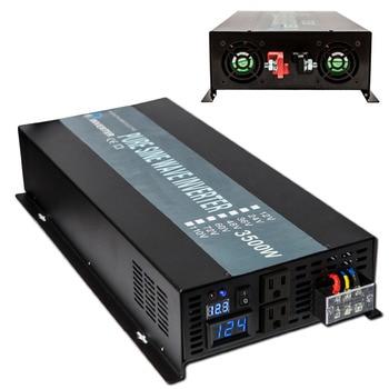Off Grid 3500W Pure Sine Wave Solar Inverter 24V 220V Car Power Inverter 12V/24V DC to 100V/120V/240V AC Converter Power Supply 1
