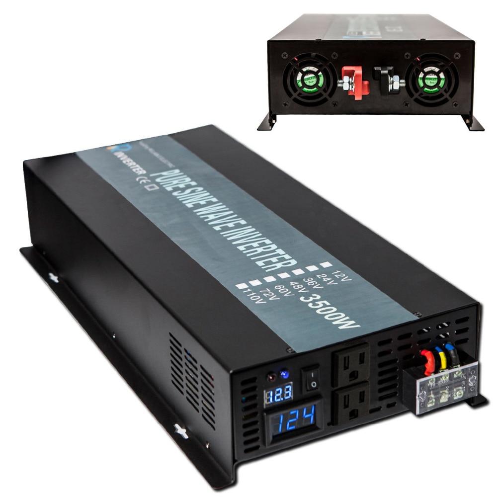 Netzunabhängige 3500 Watt Reinen Sinus-wechselrichter 24 V 220 V auto Wechselrichter 12 V/24 V DC zu 100 V/120 V/240 V Ac-wandler Power versorgung