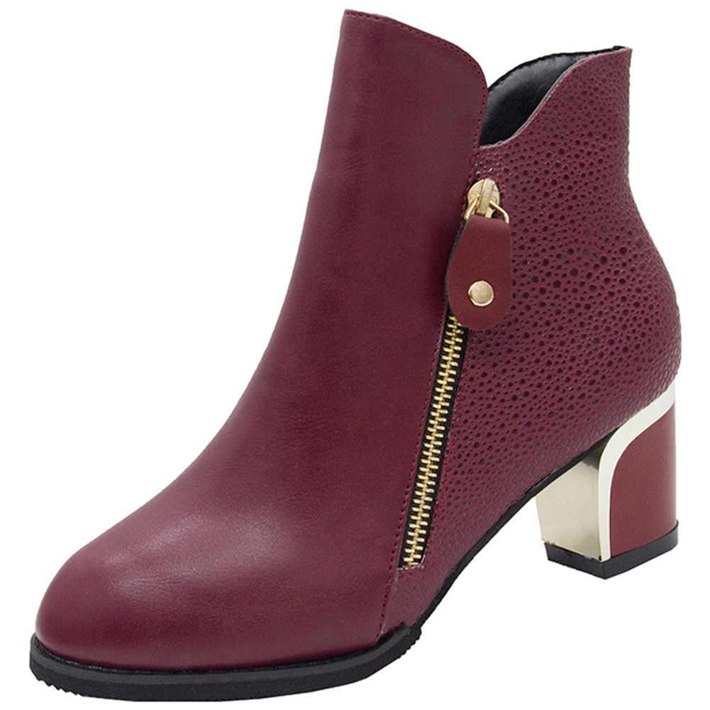 Женские ботильоны; женская обувь; оптовая продажа; Прямая поставка; элегантные женские ботинки на высоком квадратном каблуке и молнии; женская обувь; большой размер 43
