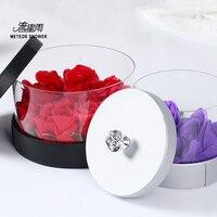 CUBE акриловый прозрачный коробки кристалл корейский цветок Коробка Букет роз Подарочная коробка цветочный магазин поставляет