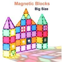 Magnetic Building Blocks Magnetic Tiles Constructor Games Magnet Toy Model Educational Toys For Children LovelyToo
