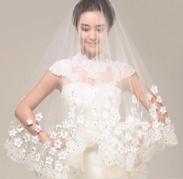 Wedding Dress Accessories.Us 16 59 17 Off Pretty 2015 New Complex Gulei Si Petals Veil Wedding Dress Accessories Ruansha Milky White Fairy Temperament Customized Length In