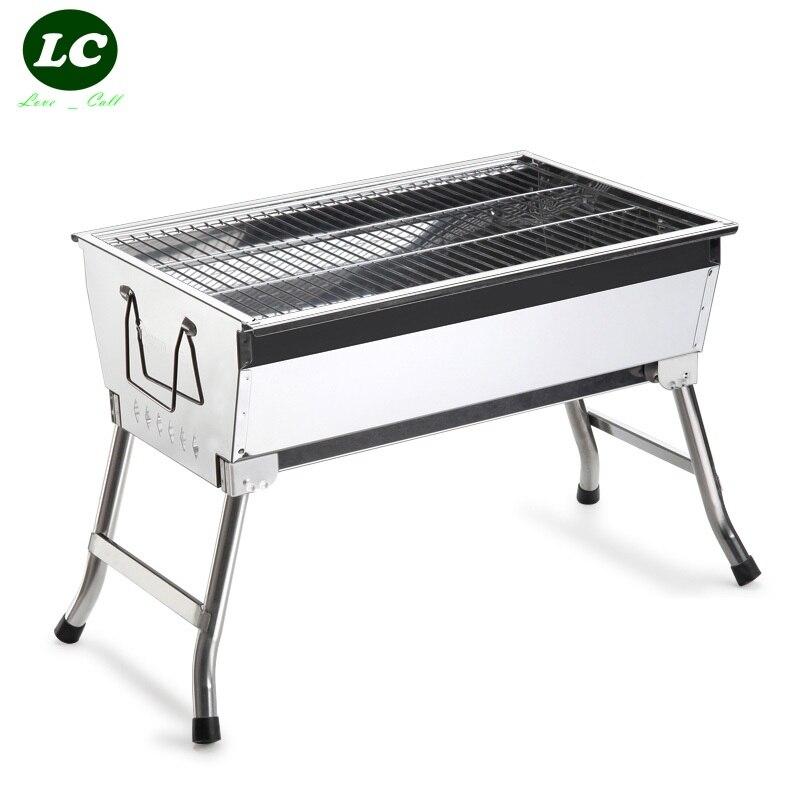 Livraison gratuite barbecue grilles PORTABL charbon de bois barbecue grillinox poêle extérieur portable charbon de bois barbecue grill poêle pli