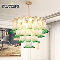 Postmodern LED chandelier peacock creative creative glass living room dining room lamp garden bedroom lighting