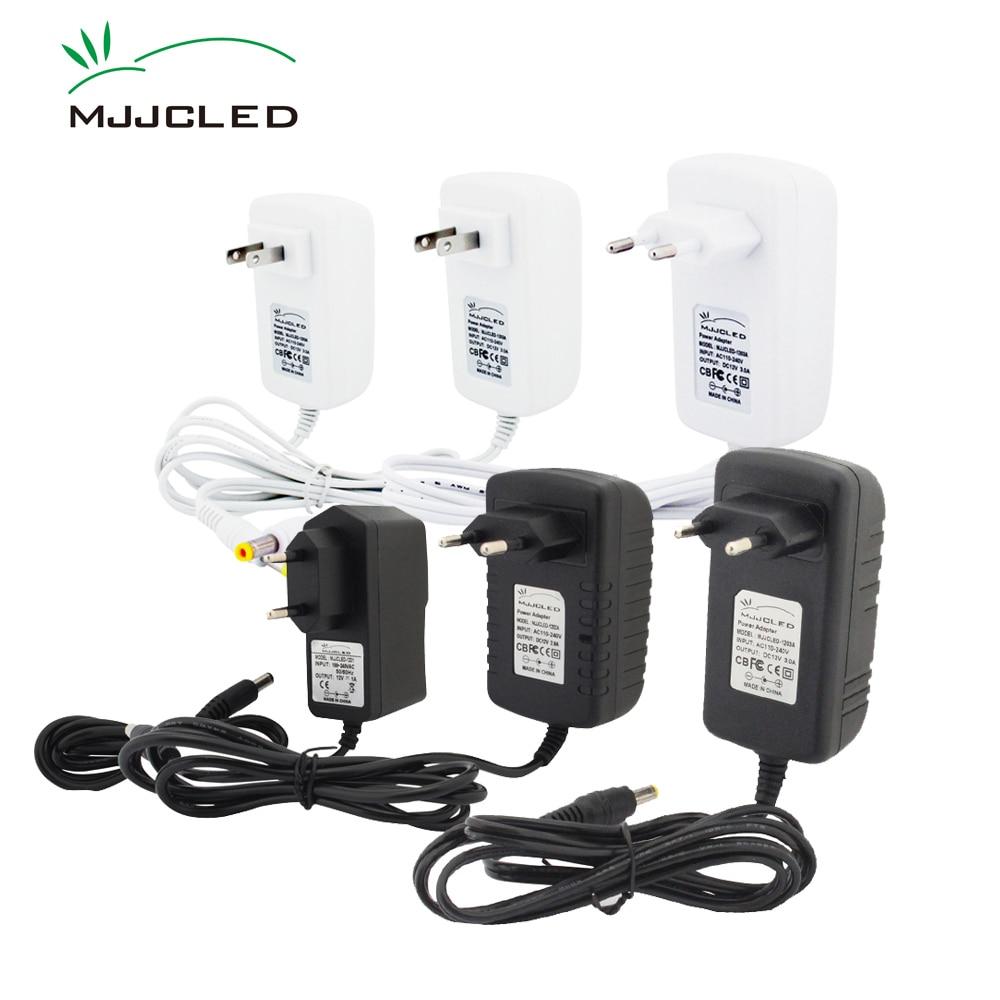 Power Supply 12 Volt Adapter 12V 2A 3A 1A Lighting Transformer 220V 12 V AC DC Plastic LED Driver For LED Strip Light  White