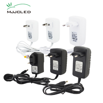 цена на Power Supply 12 Volt Adapter 12V 2A 3A 1A Lighting Transformer 220V 12 V AC DC Plastic LED Driver For LED Strip Light  White