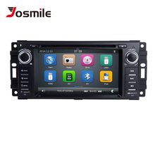цена на 2 Din Car DVD Multimedia Player For Jeep Grand Cherokee Chrysler 300C Dodge Ram Compass Patriot Sebring GPS Navigation AutoRadio
