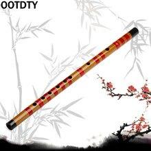 OOTDTY традиционная длинная бамбуковая флейта кларнет студенческий музыкальный инструмент 7 отверстий 42,5 см