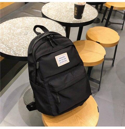 HTB14bJ2XG67gK0jSZFHq6y9jVXa5 Nylon Backpack Women Backpack Solid Color Travel Bag Large Shoulder Bag For Teenage Girl Student School Bag Bagpack Rucksack