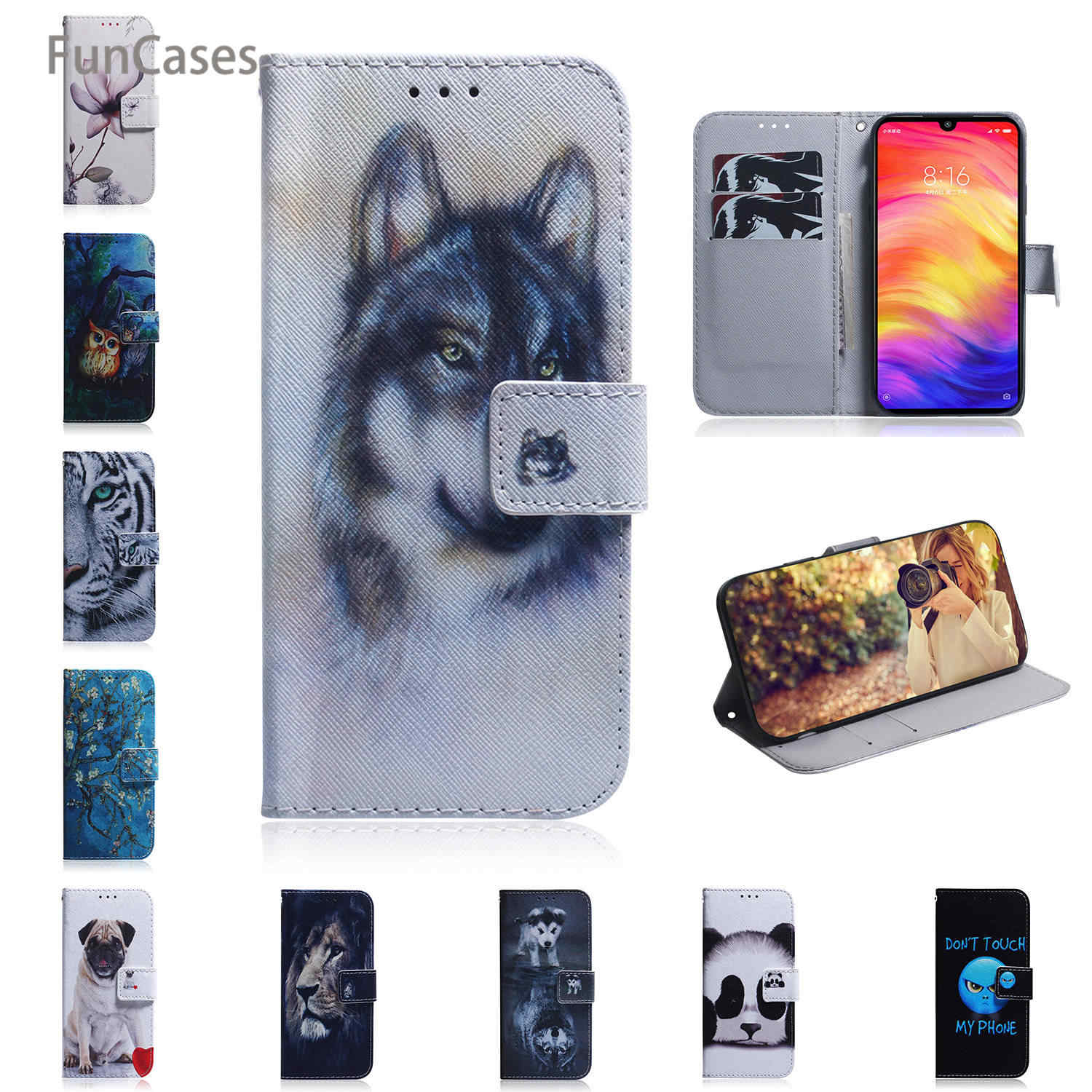 8X Cases For coque Huawei Honor 8C Magnolia PU Leather Book Case sFor Huawei estuche Honor 20 Pro 8S 8X V20 10 Lite 8A 10i 20i